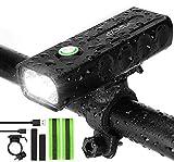 IPSXP 1000 lúmenes Luz Bicicleta, USB Recargable LED Faro Delantero para Bicicleta Alto Brillo 6 Horas Linterna de...