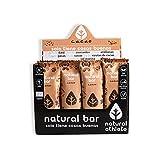 Barritas Energéticas BIO Cacao Natural Athlete, Sin Azúcar Añadido, 100% Natural y Orgánicas, Sin Gluten,...