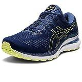 ASICS Gel-Kayano 28, Zapatillas de Running Hombre, Thunder Blue Glow Yellow, 42 EU