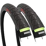 Fincci Par 26 x 1,95 Pulgadas 53-559 Cubiertas con 2.5mm Anti Pinchazo para Carretera MTB Montaña Hibrida Bici...