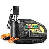 Linkax Candado Moto,110dB Alarma Antirrobo Candado de Disco de Moto con 1.5M Cable,Cerradura con Alarm,Alarm Lock...