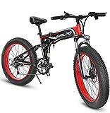 1000W Bicicleta eléctrica para Hombre Mountain Mountain Ebike 21 Velocidades 26 Pulgadas Fat Tire Road Bicycle...