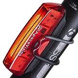 Apace Vision Luz Trasera para Bicicleta Recargable USB - Potente LED Faro Trasero Bici - Muy Luminoso y Fácil de...