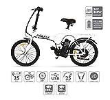 Nilox E Bike 24 V 14 P-X1 Bicicleta Eléctrica, Unisex Adulto, Blanco, 53 x 148 x 103