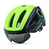 Exclusky Casco de Ciclismo en Ruta para Adultos 54-58cm (Verde/Negro)
