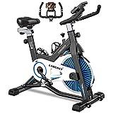 LABGREY Bicicleta Estatica de Spinning Bici Ejercicio Gym Casa Indoor Fitness Bikes Volante 15 KG, Resistencia...