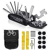 VICKSONGS Kit de Herramientas para Bicicleta, [16 Set/Aleación, Alta Dureza] Kit Pinchazos Bici, Herramienta de...
