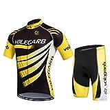 Cornasee Ropa Ciclismo Verano para Hombre y Mujer Conjunto de Ciclismo Maillot y Gel Pantalones Cortos