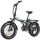 BIKFUN Bicicleta Electrica Plegable 48V 12.5Ah, Bicicleta Eléctrica de 20 Pulgadas,350W Motor Sin Escobillas,...
