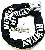 TriEcoWorld Chaîne de sécurité antivol résistante avec cadenas pour vélo et moto, 1,5 m
