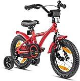 Prometheus Bicicleta para niños de 3 a 5 años | Bicicleta Infantil 4 años para niñas 14 Pulgadas con ruedines...