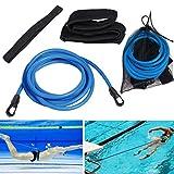 4M Cinturón De Entrenamiento De Natación,Cinturón de natación Ajustable para Piscinas de natación,Piscina...
