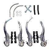 JLERU V-Brake - Piezas de freno Calibrador de freno para bicicletas 2 pares (plata)