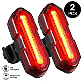 TOPELEK Luz LED Trasera Bicicleta Potente [2 Paquetes] Luz Trasera para Bicicleta Recargable USB con Impermeable de...