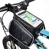 Bolsa de Bicicleta, Hihill Bolsa Manillar Bicicleta, Impermeable y Portátil Bolsa Móvil Para Tubo Superior de...