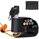 BangShou Candado de Disco con Alarma Dispositivos Antirrobo para Motos 110DB Candados para Bicicletas 7mm Candado...