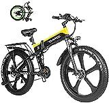Bicicleta electrica Bicicletas, 1000W Fallo eléctrico Bici 48V Batería de litio Hombres Mountain E Bicicleta 21...
