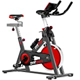 FITFIU BESP-22 - Bicicleta Indoor Spinning ergonómica con disco inercia 24kg y resistencia regulable, Bici...