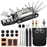Aiooy Kit de Herramientas para Bicicleta,16 en 1 Reparación de Pinchazos Bicicleta,Herramienta de Reparación...