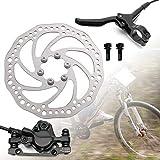 Hamimelon Rotor de Freno de Disco de 160 mm Juego de Frenos de Disco hidráulicos para Bicicleta de Montaña BMX...