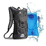 Mochila de hidratación de 2L con bolsa de bicicleta de vejiga de hidratación para correr al aire libre Ciclismo...