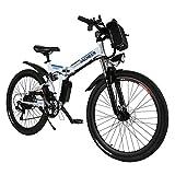 ANCHEER Bicicleta eléctrica de montaña, 26'/27,5 Pulgadas, Bicicleta eléctrica con batería de Litio de 8 Ah/10...