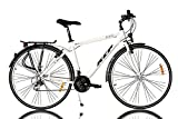 KCP 28' Trekking Bike Bicycle Men ARA Alloy with 21 Speed Shimano White - (28 Inch)