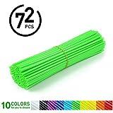 72Pcs Spoke Skins - Cubiertas de Radio de Rueda para Motocross, Bicicletas de Suciedad - 10 Colores ( Color : Verde )