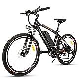 Bicicleta Eléctrica Ebike Mountain Bike, Bicicleta Eléctrica de 26' 250W con Batería de Litio de 36V 12.5Ah...