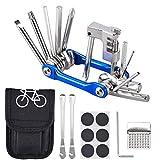 Oziral Kit Reparación Herramientas Bicicleta 11 en 1 Herramienta multifunción (con Separador Cadena) con Kit de...