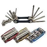 Senven 11 en 1 Multifunción Bicicleta Reparacion Herramientas, Multiusos Bici Herramientas, Mini Plegables...