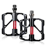 Pedals,Beautystar senderismo aleación de aluminio bicicleta de montaña pedales con tres cojinetes pedal para...