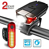 ITSHINY luz Bicicleta, Luces para Bicicleta LED Recargable e Impermeable - Combinaciones de Faros Delanteros y...