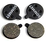 2 Pares SOMMET Pastillas Freno Disco Semi-metálico para Zoom DB-280/350 / 450/550 / 650 / Alongha SNG/Apse/Artek...