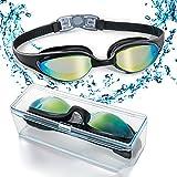 Gafas de natación con puente flexible de punta suave y de espejos coloreados, libre de fugas. Protección contra...