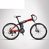 HIKING BK Viajes Bicicleta De 21-Velocidad Bicicleta De Montaña Plegable Off-Road Adultos Estudiantes Hombres Y...