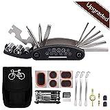 Tagvo Kit de herramientas para bicicleta, 16 en 1 Herramienta multifunción para bicicleta con kit de parche y...
