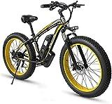 Bicicleta electrica 48V 350W Bici de montaña eléctrica 26 pulgadas Neumático de grasa Ebike 21 Equipo de...