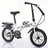 LETFF Bici Plegable de la Bicicleta de la Velocidad Variable del niño del Estudiante de 20 Pulgadas de la...