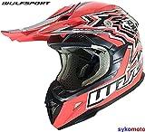 Flite XTRA Wulf Red Casco ECE aprobado Supercross MX Quad Niño Minibicicleta motocicleta