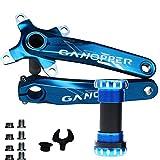 Jnp MTB-Conjunto de bielas y palancas para bicicleta con soporte inferior (175mm), incluye herramientas de...