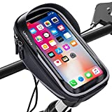 LEMEGO Soporte Bolsa Movil Bicicleta, Bolsa Bicicleta Impermeable, Funda Móvil Soporte de Bici Manillar para...