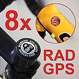 8x Cilindro de GPS Inside Pegatinas bicicleta Seguridad Bike Finder Tracker Bike Secure bicicleta de montaña...