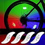 yifengshun 4pcs luz de radios de Bicicleta, Rayo de la decoración Impermeable de la Rueda de la Bicicleta luz del...