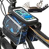 Guador Bolsas de Bicicleta Impermeablez Táctil de Tubo Superior Delantero Soporte Telefono Móvil Bicicleta...