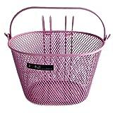 Point 05107700 VR Colour - Cesta Frontal para Bicicleta Infantil (25 x 16 x 16 cm), Color Rosa