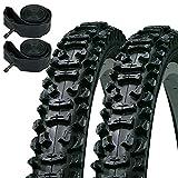KENDA Smoke–Neumáticos de 26'x 1,95para Bicicleta de montaña y Schrader Tubos Interiores (par)
