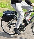 PoloMar Bicicleta de Equipaje Bolsa de Sillín Bicicleta Alforja para Mochila Negro
