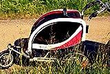 Guto 65111 Remolque de Bicicleta, Unisex niños, Rojo, Talla Única
