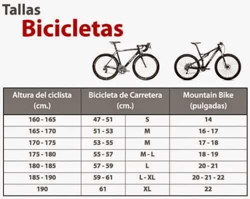 Tallas o Medida de Bicicleta MTB